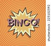 bingo. comic speech bubble. ... | Shutterstock .eps vector #225102592