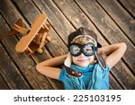 Child Pilot With Vintage Plane...