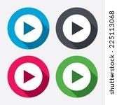 arrow sign icon. next button.... | Shutterstock .eps vector #225113068