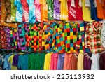 colored clothing on the market | Shutterstock . vector #225113932