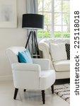 luxury white chair in living... | Shutterstock . vector #225118018