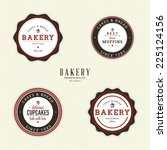 abstract bakery objects on a... | Shutterstock .eps vector #225124156