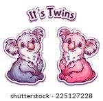 vector illustration of koala... | Shutterstock .eps vector #225127228