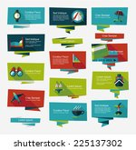 travel flat banner background... | Shutterstock .eps vector #225137302