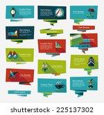 travel flat banner background... | Shutterstock .eps vector #225137302