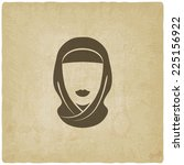 arabic woman avatar old... | Shutterstock . vector #225156922