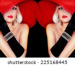 Beautiful Lady In Red Hat...