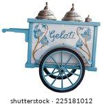 View Of Vintage Ice Cream Cart...