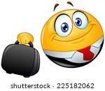 business emoticon holding a...   Shutterstock .eps vector #225182062