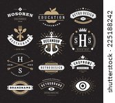 retro vintage insignias or... | Shutterstock .eps vector #225188242