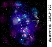 orion constellation. true star... | Shutterstock . vector #225194902