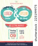 wedding invitation card with... | Shutterstock .eps vector #225199975