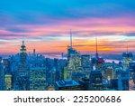 famous skyscrapers of new york... | Shutterstock . vector #225200686