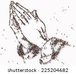 Praying Hands Formed Out Of...