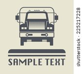 truck icon or sign  vector... | Shutterstock .eps vector #225217228