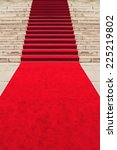 red carpet on staircase marking ... | Shutterstock . vector #225219802