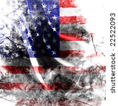 American Flag Background With A ...