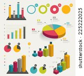set of business flat  3d design ... | Shutterstock .eps vector #225222025