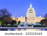 the united states capitol... | Shutterstock . vector #225223165