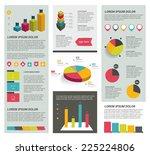 big set of flat infographic...
