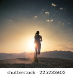 young athlete running in the... | Shutterstock . vector #225233602