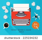 writers block   vector... | Shutterstock .eps vector #225234232