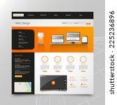 corporate website template.... | Shutterstock .eps vector #225236896