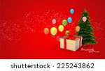 illustration of gift box and... | Shutterstock . vector #225243862