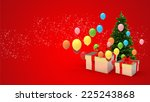 illustration of gift box and... | Shutterstock . vector #225243868