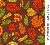 hand drawn seamless pattern... | Shutterstock .eps vector #225244732