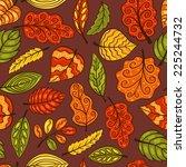 hand drawn seamless pattern... | Shutterstock .eps vector #225244732
