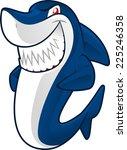 smiling blue shark vector... | Shutterstock .eps vector #225246358