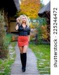 beauty romantic blonde girl... | Shutterstock . vector #225246472