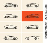 sports car icons outline | Shutterstock .eps vector #225268288