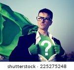 strong superhero businessman... | Shutterstock . vector #225275248