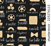 pasta pattern | Shutterstock .eps vector #225276115