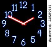 neon clocks. gradient mesh....