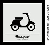 transport design over black... | Shutterstock .eps vector #225294295