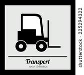 transport design over black... | Shutterstock .eps vector #225294322