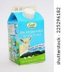 Small photo of MALESICE, CZECH REPUBLIC - OCTOBER 10, 2013: Goat Milk Leeb Vital. Leeb Vital is the austrian producer of biomilk.