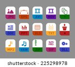 professional document icon set  ...