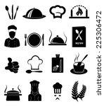 restaurant icons set | Shutterstock .eps vector #225306472