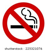 no smoking sign isolated on... | Shutterstock . vector #225321076