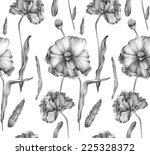 floral seamless pattern   hand... | Shutterstock . vector #225328372