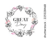 hand drawn floral frames  ... | Shutterstock . vector #225328468