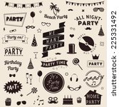 set of party icons. vector... | Shutterstock .eps vector #225331492