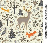 forest background. seamless... | Shutterstock .eps vector #225346882