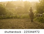 Stock photo horse riding silhouette 225346972
