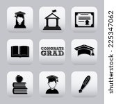 graduation graphic design  ... | Shutterstock .eps vector #225347062