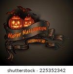 happy halloween scroll banner...   Shutterstock .eps vector #225352342